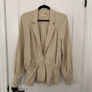 Elizabeth & James Ivory Silk Jacket/Blazer